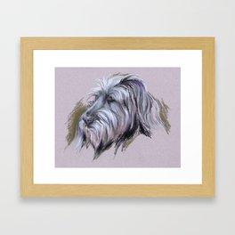 Wolfhound Portrait Framed Art Print
