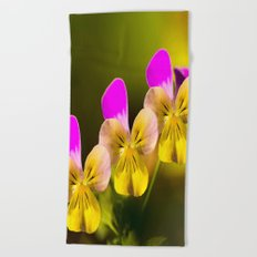 Colorful violets  - beauties of nature - #Society6 - #Buyart Beach Towel