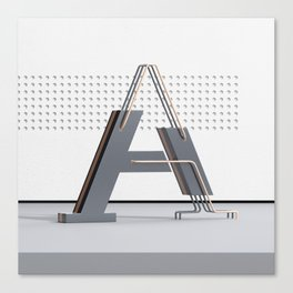 Abstract Letter A Canvas Print
