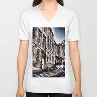the neighbourhood V-neck T-shirts featuring Character Building I by JeraNour