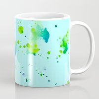 watercolour Mugs featuring Watercolour by Amarinda