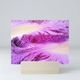 Purple Cabbage Beautiful Abstract Patterns By Nature Mini Art Print