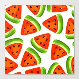 Watermelon seamless pattern Canvas Print