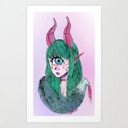 Cyclops with fur Art Print