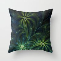 weed Throw Pillows featuring Weed by Eli Vokounova