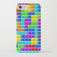 tetris iPhone & iPod Cases featuring Tetris by Rebekhaart