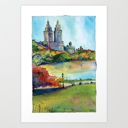 The San Remo in Autumn, Central Park, NYC Art Print