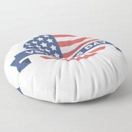 Veterans Day Commemorative Flag Design Floor Pillow