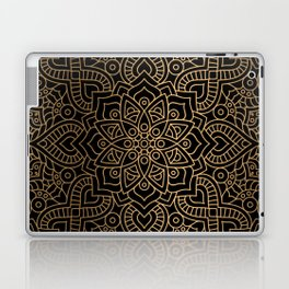 Black Gold Mandala Laptop & iPad Skin