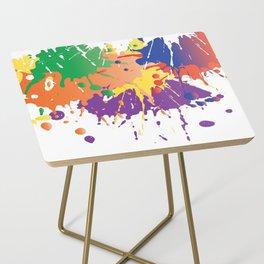 Colourful Paint splash Side Table