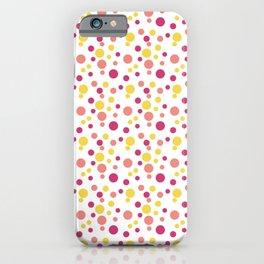 Sparkle Bubble Dot Dot Dot - Yellow Coral Raspberry iPhone Case