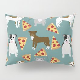 Pitbull pizza dog breed pet pattern pibble dog mom Pillow Sham