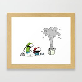 Mario Bros Plumbing Problems. Framed Art Print