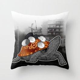 Urban Communication Turtle Throw Pillow