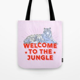 welcome to the jungle - retro tiger Tote Bag