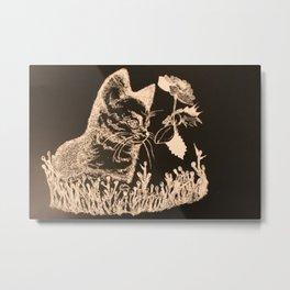 Cat Garden Metal Print