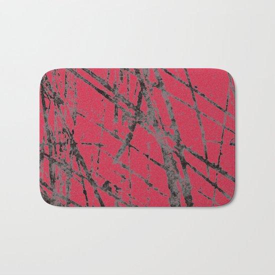red black scratchy grunge Bath Mat