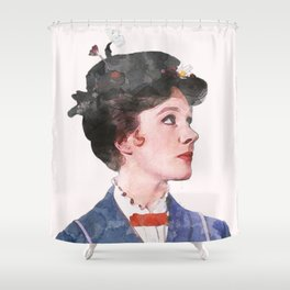 Mary Poppins - Watercolor Shower Curtain