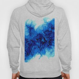Blue Hydrangeas - Flowing Abstract Painting Hoody