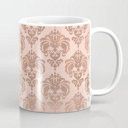 Rose Gold Damask Coffee Mug