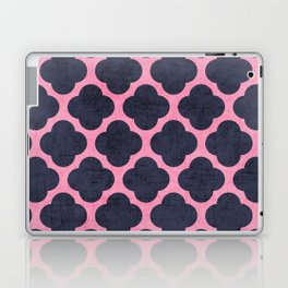 pink and navy clover Laptop & iPad Skin