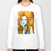 zodiac Long Sleeve T-shirts featuring Leo Zodiac by Slaveika Aladjova