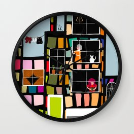 At Home In The City Wall Clock