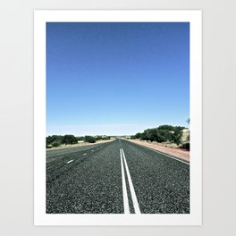 Lonely in the Outback. Art Print