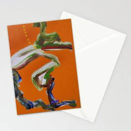 African American Masterpiece 'Paranoia Stroll' abstract landscape painting by E.J. Martin Stationery Cards