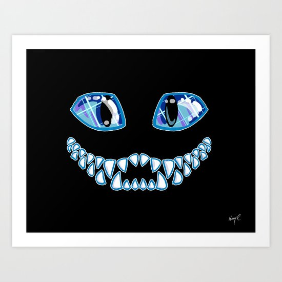 Cheshire Grin Art Print