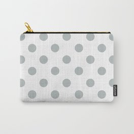 POLKA DOT DESIGN (SILVER-WHITE) Carry-All Pouch