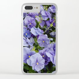 Pansy flower Clear iPhone Case