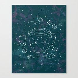 Tea Time Constellation Canvas Print