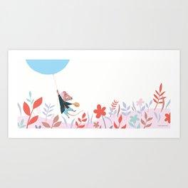 Mouse Balloon Art Print