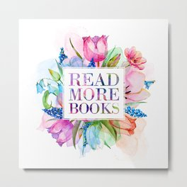 Read More Books Pastel Metal Print