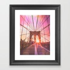 NYC Brooklyn Bridge Framed Art Print