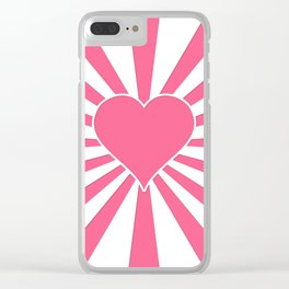 Midi Pink Valentine Sweetheart Sun rays Clear iPhone Case