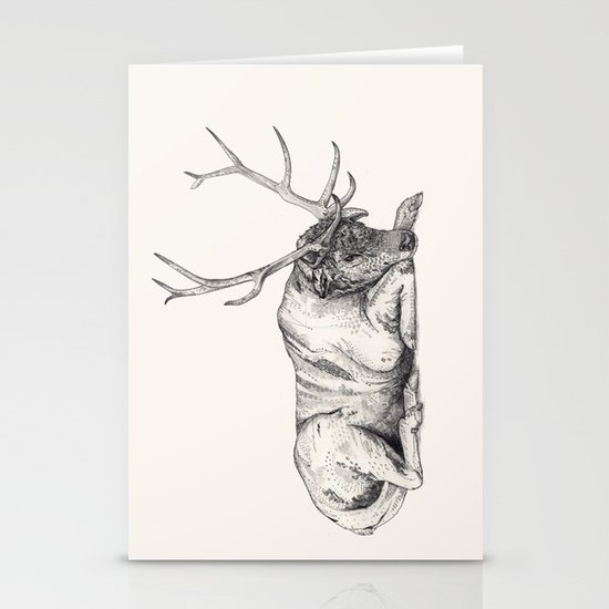 Stag // Graphite Stationery Cards