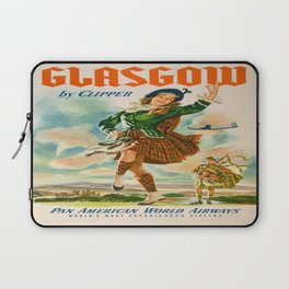 Vintage poster - Glasgow Laptop Sleeve