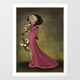 Queen Aurora Art Print