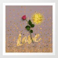 Signs of Love Art Print
