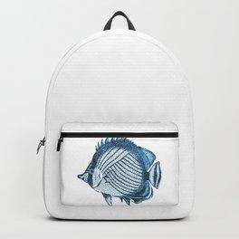 Fish coastal ocean blue watercolor Backpack
