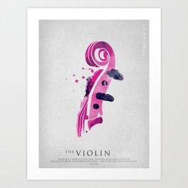 Symphony Series: The Violin Art Print