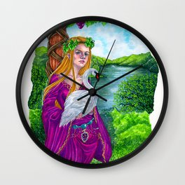 The vine tree sign Wall Clock