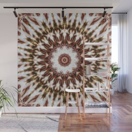 Mandala with intricate details and geometric structure Wall Mural