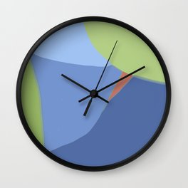 Blue and green pie Wall Clock