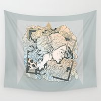 frames Wall Tapestries featuring BROKEN FRAMES by Cassidy Rae Marietta