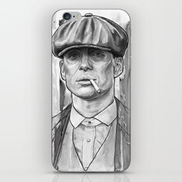 Tommy Shelby, Peaky Blinders by Nicky Anthony iPhone Skin