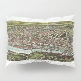 Bird's Eye View of Manayunk Philadelphia, Pennsylvania (1907) Pillow Sham