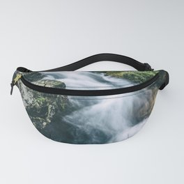 Wild river in Europe mountains Fanny Pack